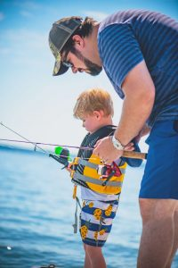 fishing at kentucky lake with kids